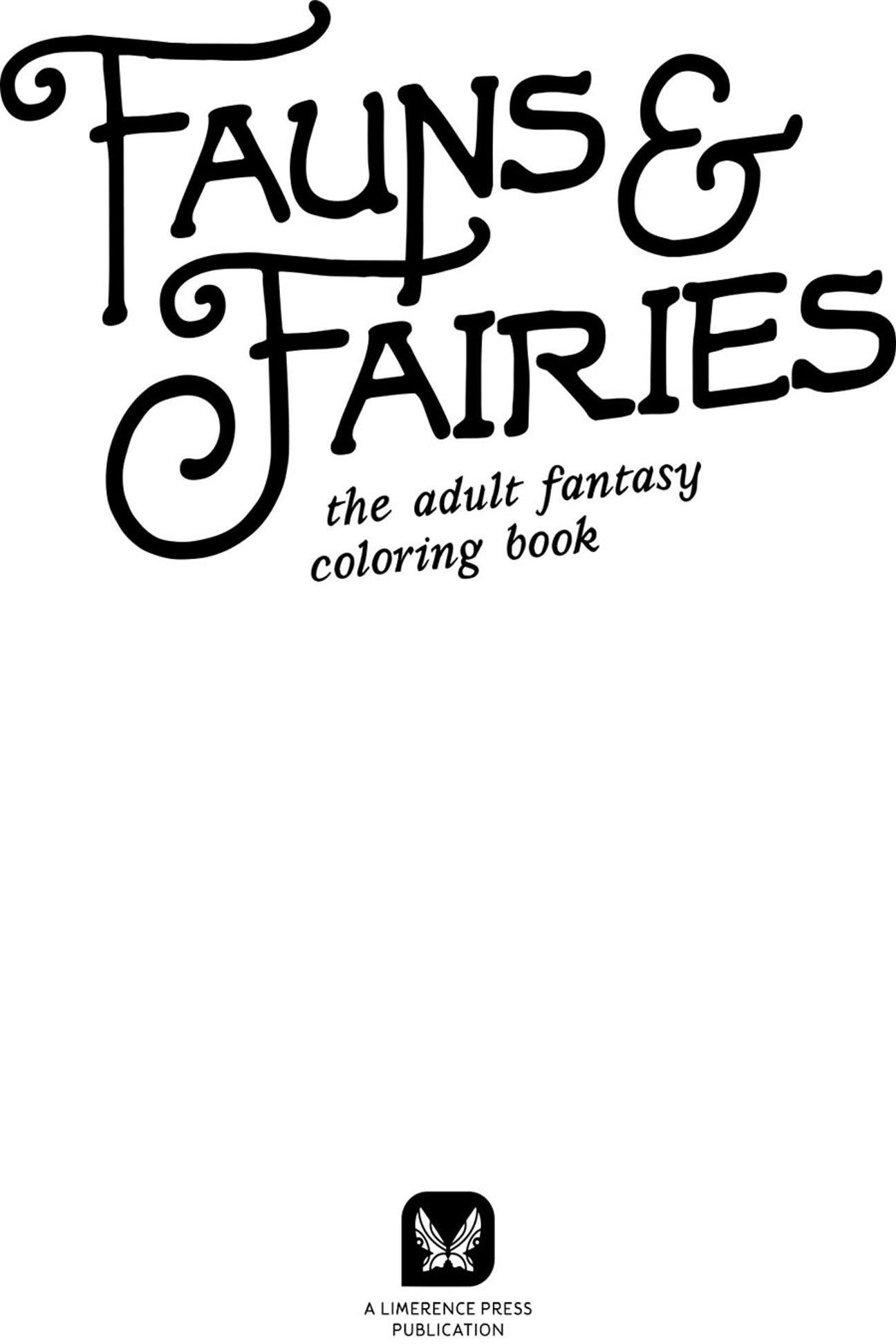 fauns u0026 fairies the fantasy coloring book preview niadd