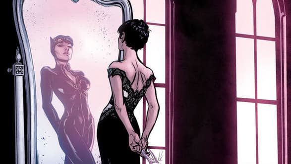 Catwoman Adds the Purr-fect Veil to Her Wedding Dress